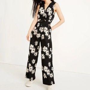 Madewell Button-Waist WideLeg Jumpsuit Ikat Floral